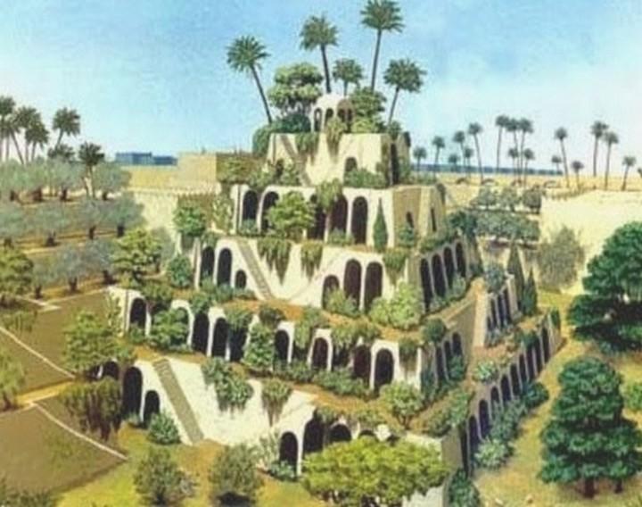 طرح فرضی از باغ های معلق بابل