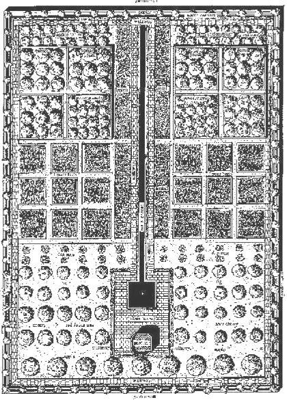 تصویر بازسازی شده چهارباغ توصیفی ارشاد الزراعه مأخذ : Eva Subtelny, 1997