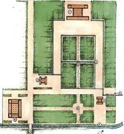 دومین پلان ترسیمی استروناخ که تحت تاثیر الگوی چهارباغ ایرانی متأخر،باغ پاسارگاد را نیز چهار باغ ترسیم کرده است.  در محور جدید هیچ جویی مشاهده نمی شود و در شواهد باستان شناسی موید ندارد.