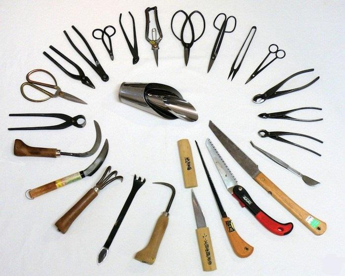ابزار های ساخت بونسای