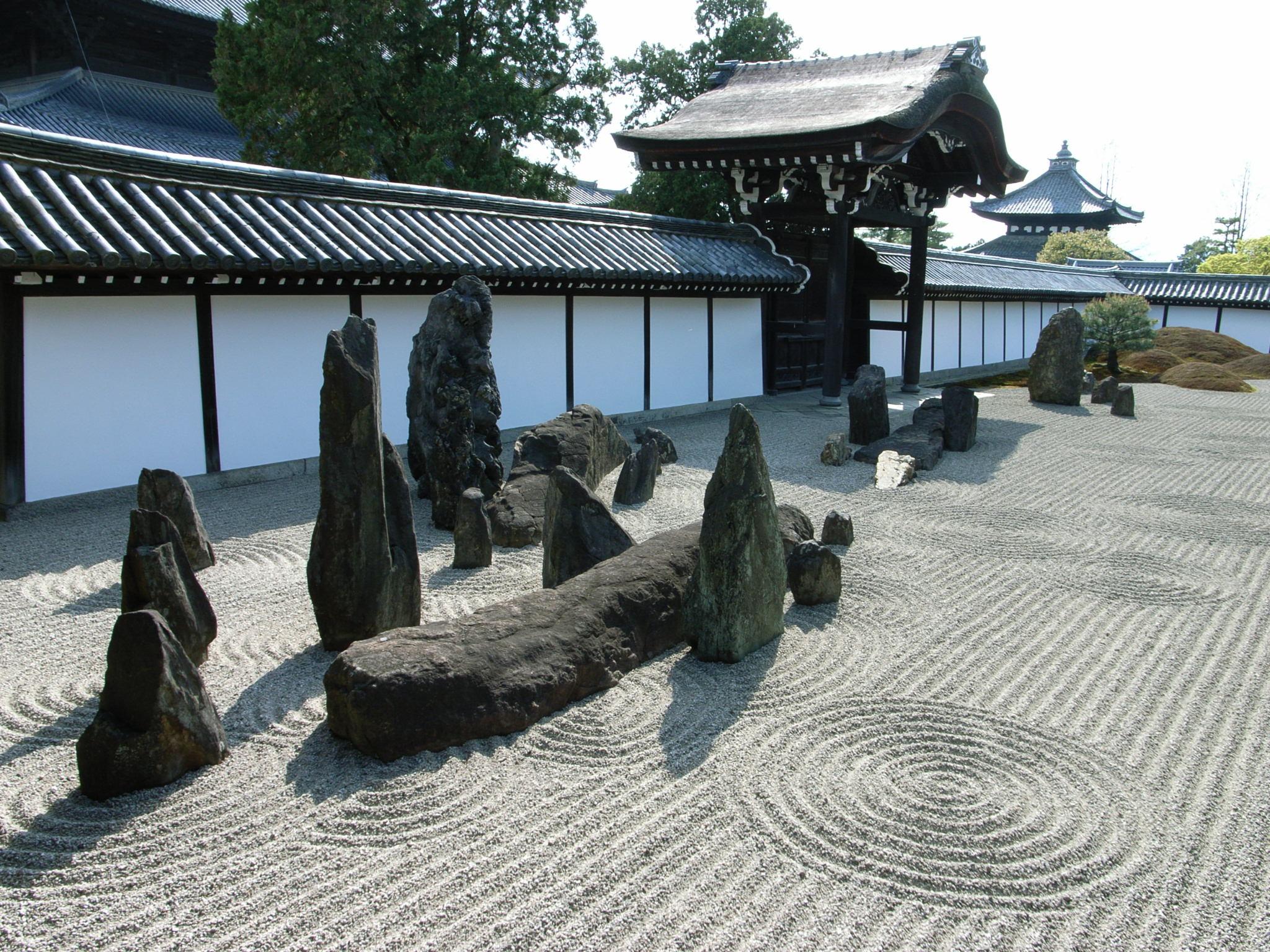 سنگ در باغ ژاپنی